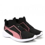 Puma Rebel Mid Gleam Jr Running Shoes For Women(Black)