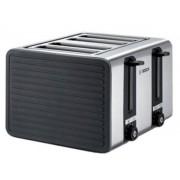 Prajitor de paine Bosch TAT7S45, 1800 W, 4 felii de paine, control variabil de rumenire (Gri)