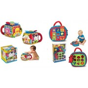 Melissa & Doug Musical Farmyard Cube And Take Along Shape Sorter Baby And Toddler Learning Toy Set