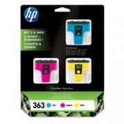 ORIGINAL HP Multipack ciano / magenta / giallo CB333EE 363 C8771EE +C8772EE +C8773EE