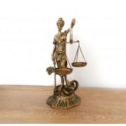 Zeita Justitiei statueta de bronz masiv