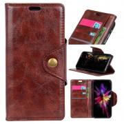 Retro Series Sony Xperia L3 Wallet Case - Brown
