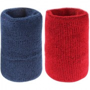 Neska Moda Unisex Navy And Maroon Pack Of 2 Cotton Wrist Band