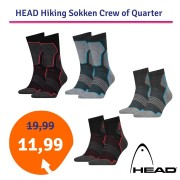 HEAD Hiking Crew sokken 2-pack Unisex Black/red-43-46