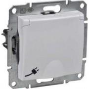SEDNA Csapófedeles csatlakozóaljzat védőföldelt gyerekvédelemmel 16 A IP20 Fehér SDN3100121 - Schneider Electric
