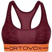 Ortovox 185 Rock'n Wool Sport - reggiseno sportivo - donna - Dark Red