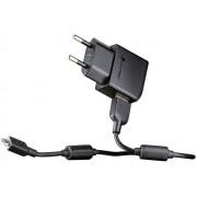 SonyEricsson EP800 USB hálózati töltő 5V 850mA + USB2.0 dugó - microUSB2.0 dugó összekötő kábel