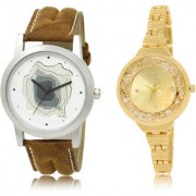 The Shopoholic White Gold Combo Fashionable Fancy Collection White And Gold Dial Analog Watch For Boys And Girls For Womens Watches