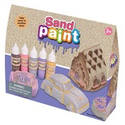 WABA Fun - Sand Paint 5-Pack Paint Set, Water-Based, Non-Toxic Paint for All Types of Play Sand, Brown/Pink/Silver/Purple/Gold
