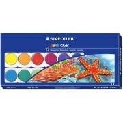 Acuarele + pensula, 12 culori/set, STAEDTLER Noris Club