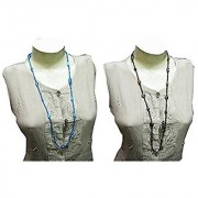 eshoppee handmade Glass Bead necklace set of 2 pcs for women and girls
