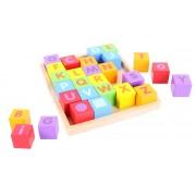 Cuburi pentru format cuvinte ABC, 3 - 7 ani
