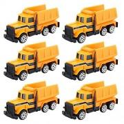 Cecileie 6pcs aleación Mini Toy Car Model Ingeniería del Tractor del camión volquete Modelo clásico de Juguetes pequeños vehículos de Regalos de cumpleaños para los Muchachos