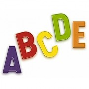 Quercetti Magnetic Uppercase Letters - 48 Piece Alphabet Magnet Set in Assorted Colors (Made in Italy)