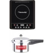 Butterfly Jet Hob Plus Pressure Cooker Induction Cooktop(Black, Touch Panel)