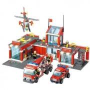 Generic Fire Station Building Block Sets Toys Educational Gift Fidget Toys 774Pcs