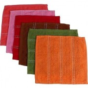 Hendkerchief Towel Multicolored (Set of 6 Pcs)
