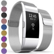 Curea Metal Ceas Proworks Fitbit Charge 2 Milanese Silver