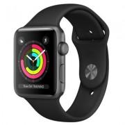 Apple Watch 3 38mm (Gwiezdna szarość z opaską sportową w kolorze czarnym)