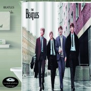 Cortina Teflon Estampada Ojales Antioxido BEATLES