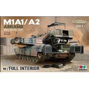 Rye Field Model 1:35 M1A1 M1A2 Abrams W/ Full Interior (2 in 1) Plastic #5007