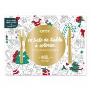 OMY Set de table à colorier - Christmas