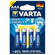 210th VARTA high energy aaa batterier 4stk