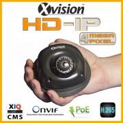 IP kamery bezpečnostní DOME 4Mpix s 15m IR - ŠEDÁ