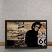 Quadro Decorativo Johnny Cash Rota 66 25x35