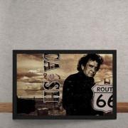 Quadro Decorativo Johnny Cash Rota 66 25x35