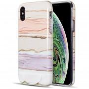 Funda Case para Iphone Xs Max Tipo Marmol - Pastel