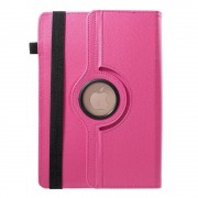 Shop4 - Universele 10 inch Tablet Hoes - Rotatie Cover Lychee Roze