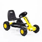 Kart cu pedale pentru copii Bolt Yellow