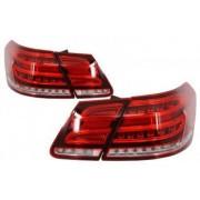 Stopuri LED compatibil cu MERCEDES Benz E-Class W212 2009-2013 Facelift Design Rosu/Clar