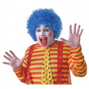 Geen Voordelige blauwe clownspruik voor volwassenen