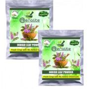 Meralite 100 Organic Indigo Powder Pack of 4 (400 g) (ML-NEW INDIGO POWDER-100G PACK OF 2)