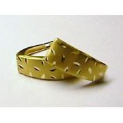 Luxusní moderní zlaté náušnice s gravírováním (žluté zlato)