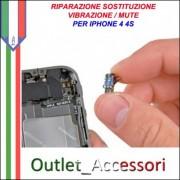 Sostituzione Riparazione Vibrazione Vibracall Mute Silenzioso per Apple Iphone 4 4S
