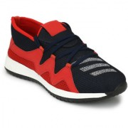 NYN Men's Black & Red Mesh Running Sport Shoes