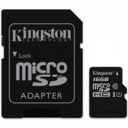 Kartica Kingston MicroSDHC 16GB Class10 UHS-I (U1) + SD Adapter (SDC10G2/16GB)