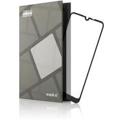 Tempered Glass Protector az LG Q60 tíspuhoz, keretes, fekete