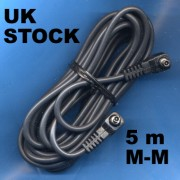 5 m MALE MALE pc sync sincro lead cord