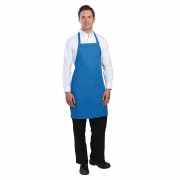 Chef Works Bib Apron Blue Size: One Size