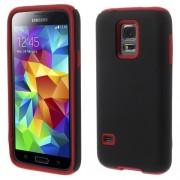 Твърд гръб за Samsung Galaxy S5 mini G800 - червено и черно