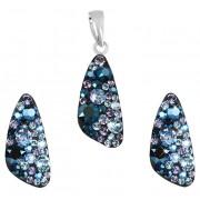 Evolution Group Stříbrná souprava šperků 39167.3 blue style (náušnice, přívěsek)