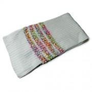 Bufanda marfil de punto en relieve