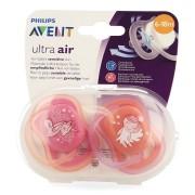 Avent Ultra Air Orthodontische Fopspenen 6-18M roze