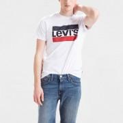 Levi's T-shirt de gola redondaBranco- XL