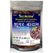 NutrActive Unpleed Sky Fruit Seed Anti Diabetes Natural Seed Kadwa Badam Sugar Badam - 150gm (Pack of 1)