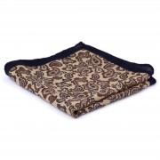 Tailor Toki Pochette de costume en laine brun clair et brun foncé